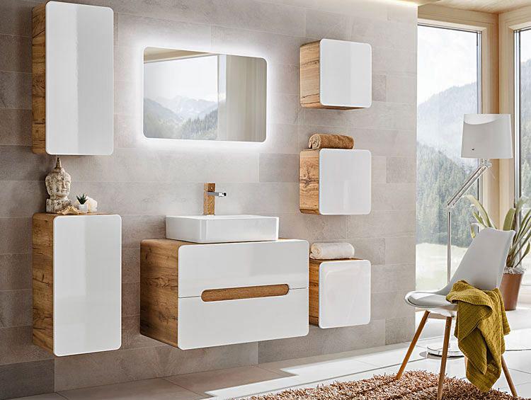 aranżacja małej łazienki z zestawem nowoczesnych mebli