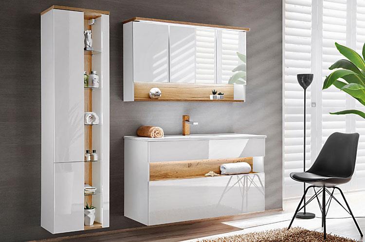 komplet nowoczesnych mebli do łazienki