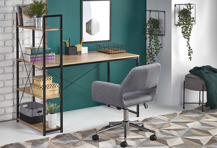 obrotowy fotel biurowy w kolorze szarym