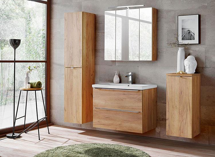 zestaw podwieszanych szafek łazienkowych