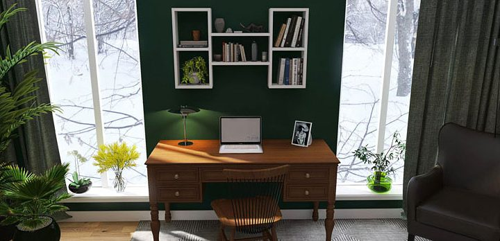 Organizacja przestrzeni pracy i nauki – półki nad biurko