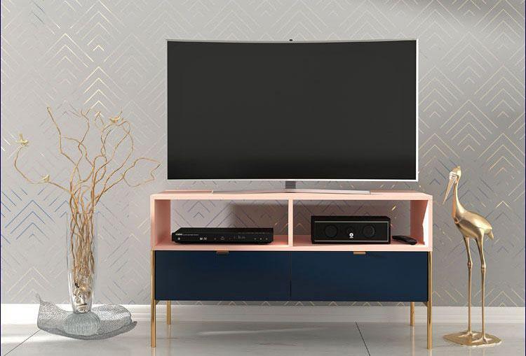 szafka pod telewizor w stylu glamour