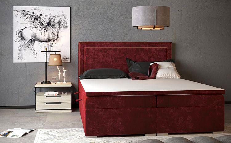 pojedyncze tapicerowane łóżko kontynentalne z szafką nocną