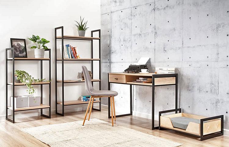 biurko w stylu loft przeznaczone do pracy w domu