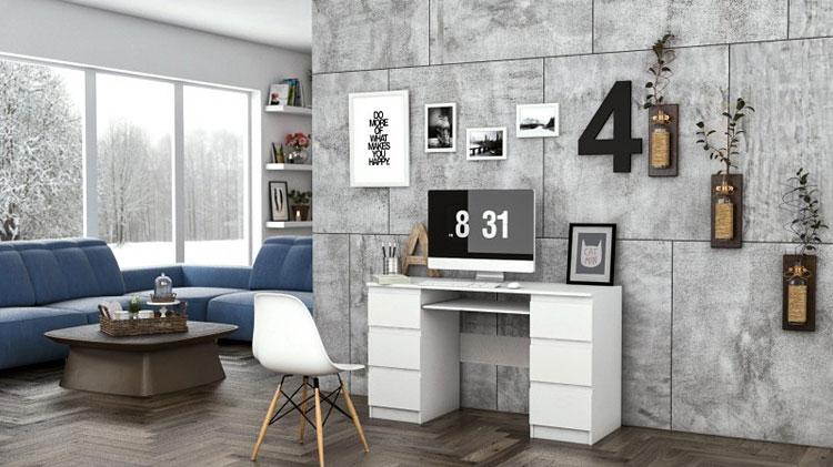 biurko w stylu nowoczesnym w domu