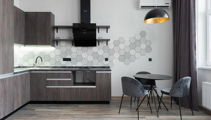 krzesła tapicerowane w kuchni