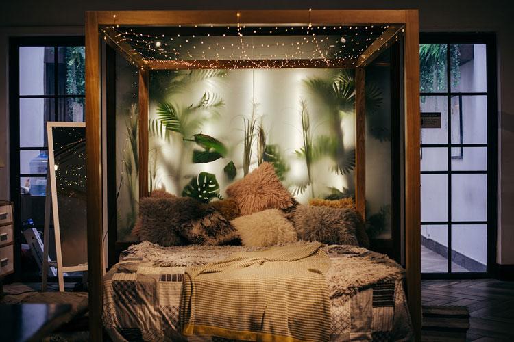 sypialnia w stylu cottage