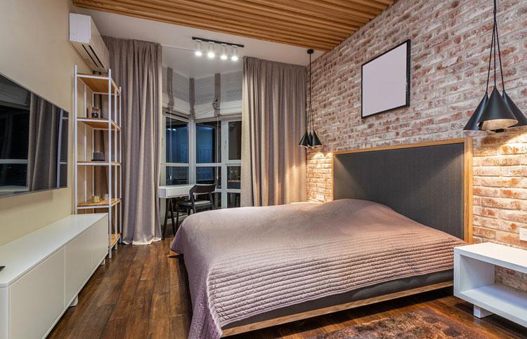 sypialnia w stylu kontynentalnym