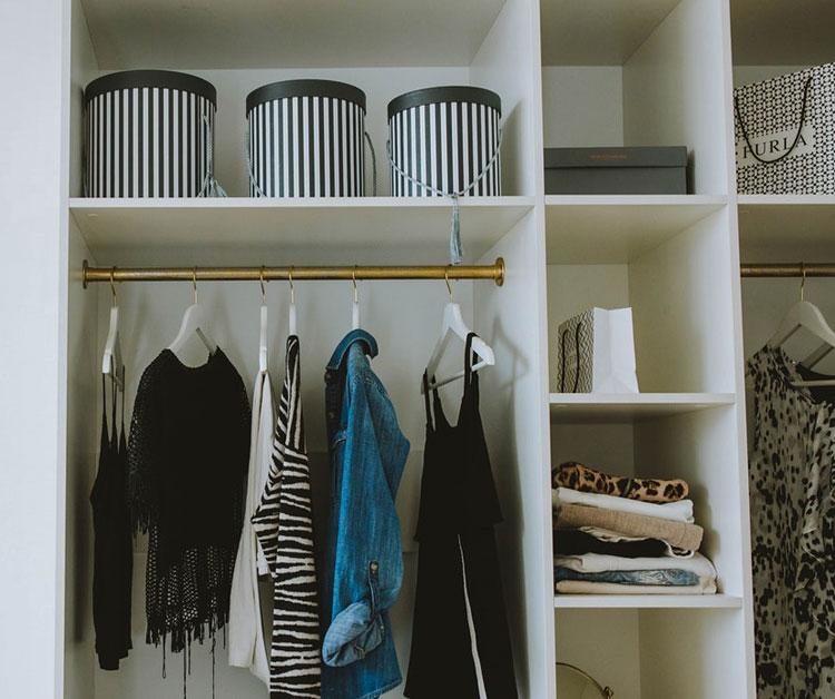 przykładowa aranżacja garderoby