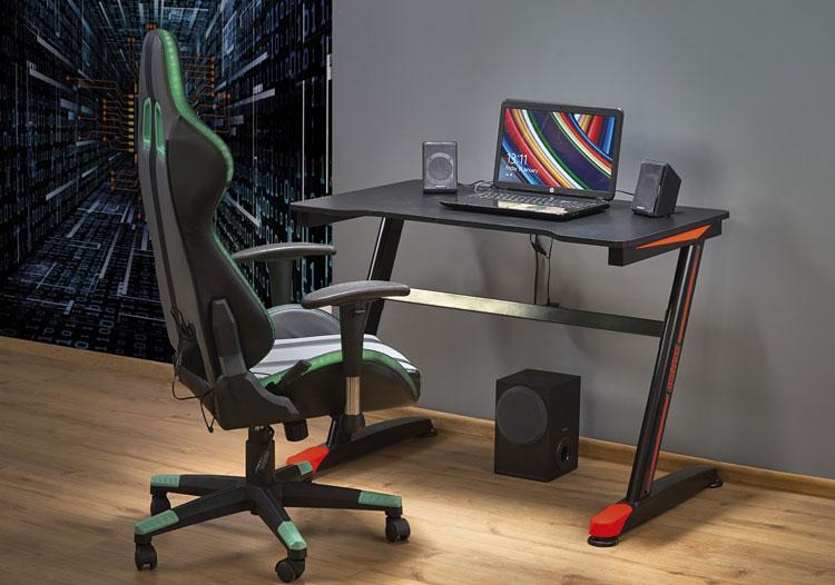 fotel i biurko do pracy w domu