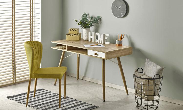 skandynawskie biurko do pracy w domu
