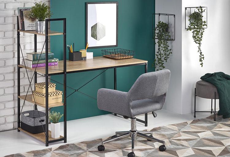 miejsce do pracy w domu z nowoczesnym biurkiem i fotelem biurowym